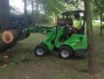 Using loader to remove timber in Normanby.